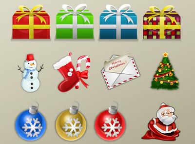 novogodišnji sajt - pakovanje ikonica